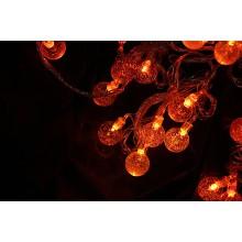 """Гирлянда """"Ледяные шарики"""" оранжевая"""