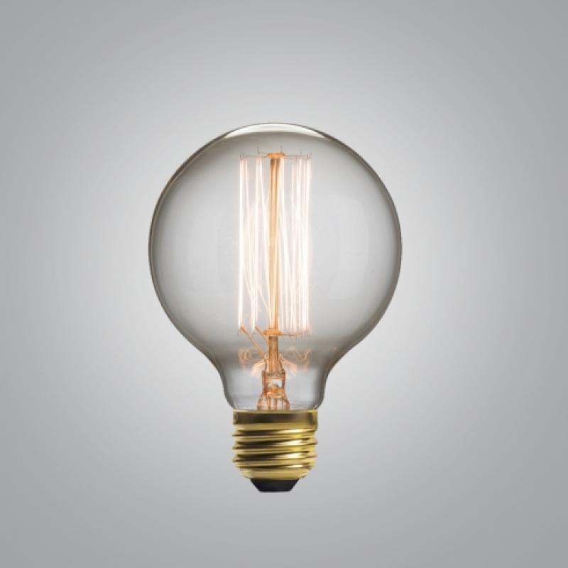 Ретро лампа в форме шара
