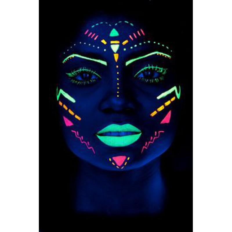 Мелки флуоресцентные для лица и тела (бодиарта) (компактный набор)