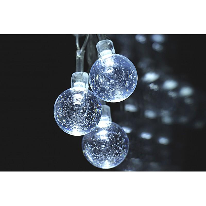 """Гирлянда """"Ледяные шарики"""" холодный белый свет"""